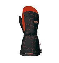 Reusch Marlo R-Tex XT Mitten - Guanti da Sci, Black/Fire Red