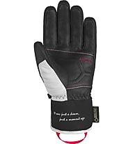 Reusch Mikaela Shiffrin GTX - guanti da sci - donna, White/Black