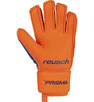 Reusch Prisma S1 Finger Support JR - guanti da portiere calcio - bambino, Orange/Blue