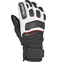 Reusch Guanti sci Profi SL, Black/White/Fire Red