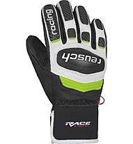 Reusch Race Tec 18 GS - guanti da sci - bambino, Black/Green
