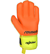 Reusch Repulse S1 Junior - guanti da portiere bambino, Black/Orange