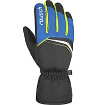 Reusch Snow King - guanti da sci - uomo, Black/Light Blue