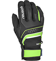 Reusch Guanti sci Thunder R-TEX XT, Black/Neon Green