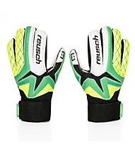 Reusch Waorani SG Finger Support Junior - guanti portiere bambino, White/Green