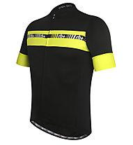 rh+ Academy Jersey Radtrikot, Black/Fluo Yellow