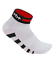 rh+ Ergo Sock (3 cm) Fahrradsocken, White/Red/Black