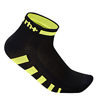 rh+ Ergo Sock (3 cm) Fahrradsocken, Black/Fluo Yellow
