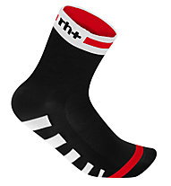 rh+ Calzini bici Ergo Sock 9 cm, Black/White/Red