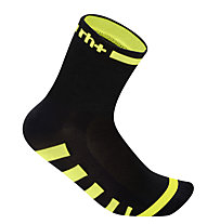 rh+ Calzini bici Ergo Sock 9 cm, Black/Fluo Yellow
