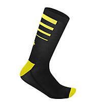rh+ Feel 15 Merino-Radsocken, Black/Fluo Yellow