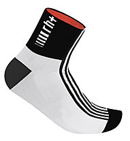 rh+ Fuego Sock (9 cm) Radsocken, White/Black