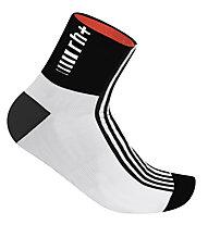 rh+ Fuego Sock (9 cm) - Calzini Corti, White/Black