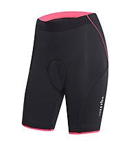 rh+ Fusion W Shorts (21 cm) Damen-Radhose, Black/Rouge Red