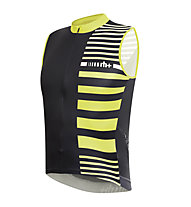 rh+ Jersey bici Legend Sleeveless - Maglia Ciclismo, Black-Fluo Yellow