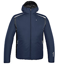 rh+ Pack Blend Hooded Jacket Herren Thermoskijacke mit Kapuze, Blue/Anthracite
