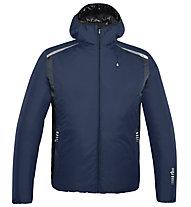 rh+ Pack Blend Hooded Jacket Herren Thermoskijacke mit Kapuze, Blue/Anthracite