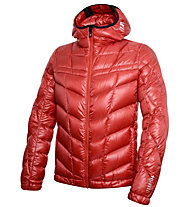 rh+ Pack Down Hooded Jacket Herren Daunenskijacke mit Kapuze, Red