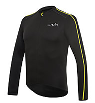 rh+ Giacca bici Prime EVO LS Jersey, Black/Fluo Yellow