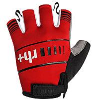 rh+ Guanti bici Prime Glove, White/Black/Red