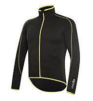 rh+ Prime LS Jersey langärmliges Radtrikot, Black/Fluo Yellow