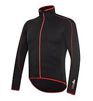 rh+ Prime LS Jersey langärmliges Radtrikot, Black/Red