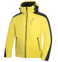 rh+ Rider Jacket Herren Skijacke mit Kapuze, Light Yellow/Royal