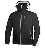 rh+ Rider Jacket Herren Skijacke mit Kapuze, Black/OffWhite