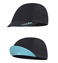 rh+ Berretto bici Shark Cap, Black/Water Green