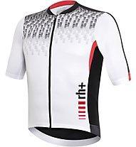 rh+ Shiver Jersey Radtrikot, White/Black/Red