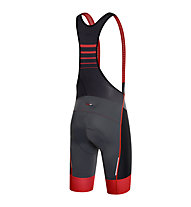 rh+ SpeedCell Bibshorts Radhose, Anthracite/Black/Red