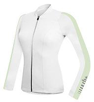 rh+ Spirit W Jersey LS langärmliges Damen-Radtrikot, White/Pastel Green
