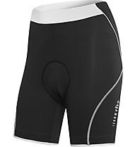 rh+ Spirit W Shorts (18 cm) Damen-Radhose, Black/White