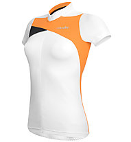 rh+ Trinity W Jersey - Radtrikot - Damen, White/Orange