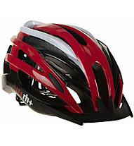 rh+ Z2in1 - casco bici, Red/Black/Grey