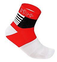 rh+ Calzini bici Zeta Sock 9 cm, Red/White/Black