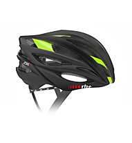 rh+ Casco bici ZW, Matt Black/Shiny Green