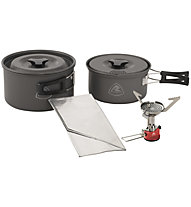 Robens Fire Ant Cook System 2/3 - Kocher + Pfannen, Dark Grey/Red