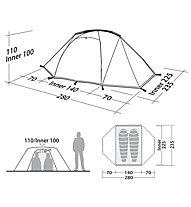 Robens Lodge 2 - Campingzelt, Green/Grey