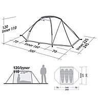 Robens Lodge Pro 3 - tenda trekking, Green