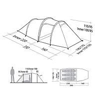 Robens Pioneer 3EX - tenda trekking, Red