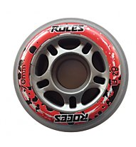 Roces Set rotelle 70 mm/82A, Silver/Red/Black