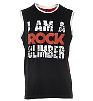 Rock Experience 2 Options Tank Top arrampicata, Caviar/Fiery Red