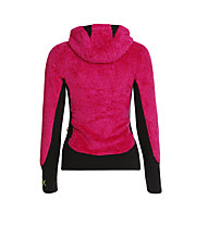 Rock Experience Crest giacca pile donna, Fuchsia Red/Caviar