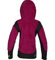 Rock Experience Crest Girl Hoodie Giacca in pile Bambina, Pink