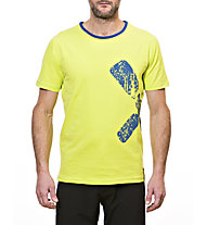 Rock Experience Duro T-shirt arrampicata, Lime Punch