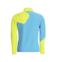 Rock Experience Ruout Full Zip Fleecejacke, Swedish Blue/Lime Punch