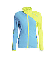 Rock Experience Ruout Full Zip Fleecejacke Damen, Swedish Blue/Lime Punch