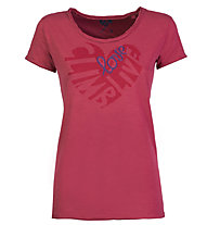 Rock Experience Seal - T-shirt arrampicata - donna, Dark Red