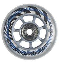 Rollerblade Rollen Rb 72/80A+Sg5+Alu Distanzstück, Transparent